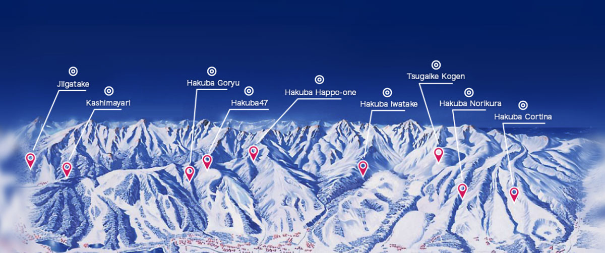 Hakuba Ski Resorts are huge