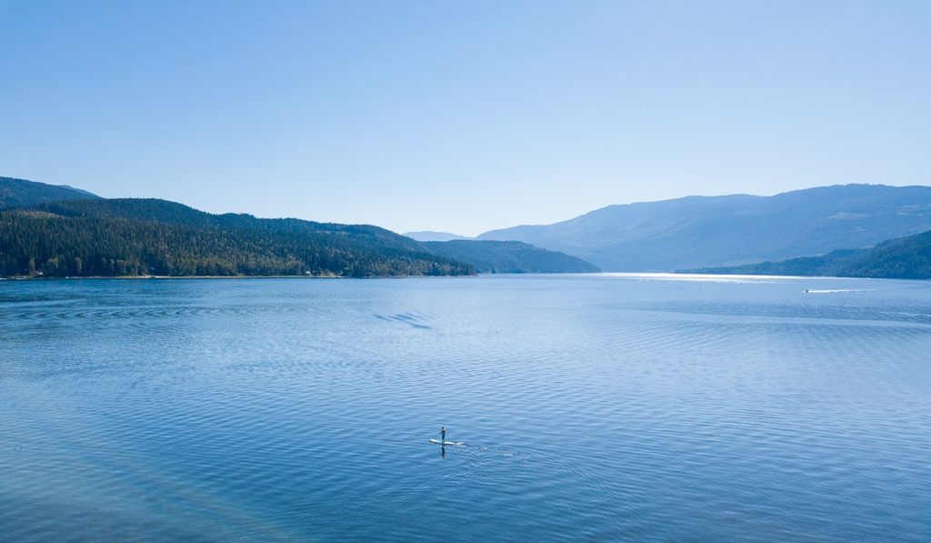 Paddle Boarding on Shuswap Lake
