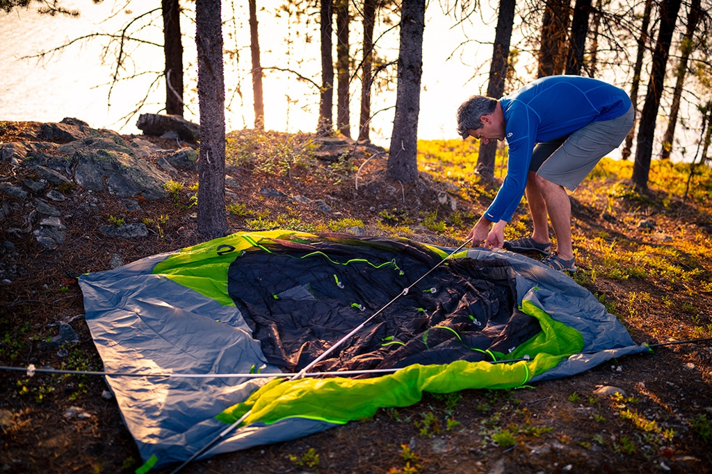 assembling the losi tent