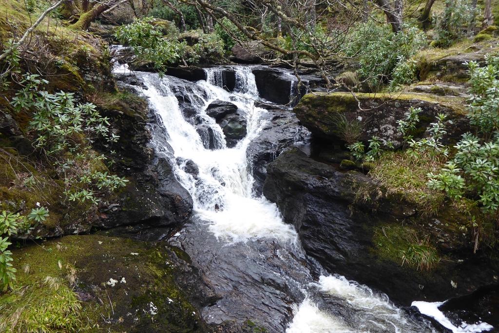 Arklet Waterfall at Inversnaid on Loch Lomond