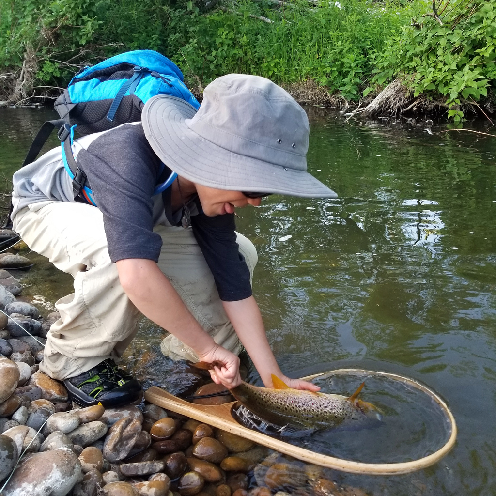 Fly fishing with kids in Alberta
