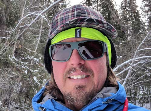 Toque, balaclava and sunglasses for winter hikes.
