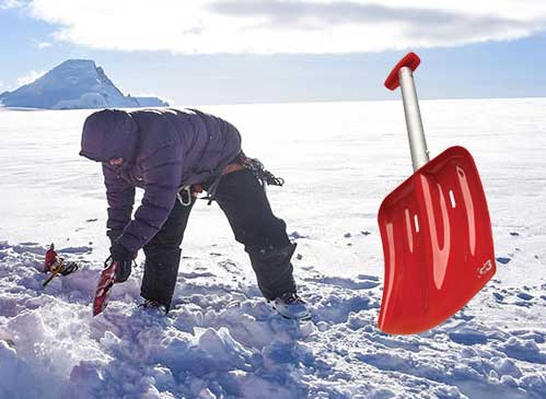 Winter camping shovel