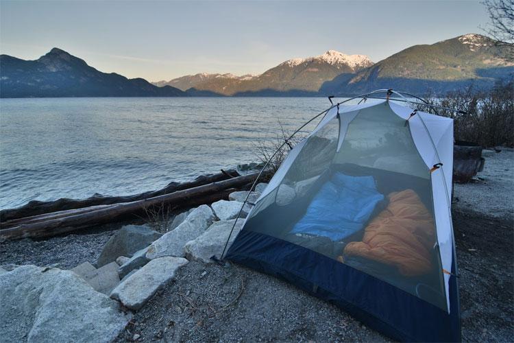 Camping in Porteau Cove Provincial Park