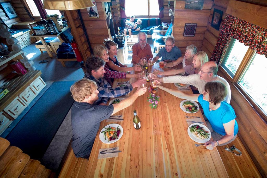 Guided hiking tours at Whitecap Alpine lodge