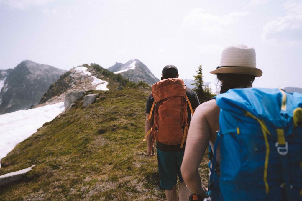 Hiking in the alpine at Whitecap Alpine Lodge BC