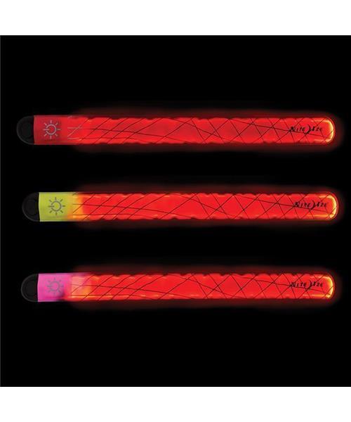 3-Pack Nite Ize SlapLit Light-Up Bracelet LED Red Slap Wrap Reflective Safety