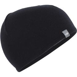 Icebreaker Pocket Hat-Black / Gritstone Heather