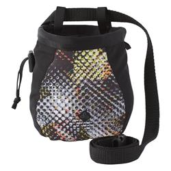Prana Large Chalk Bag with Belt - Womens-Black Digi Flower