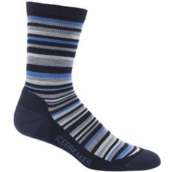 Icebreaker LifeStyle Crew Socks - Light Cushion - Mens-Admiral / Pelorus / Metro Heather