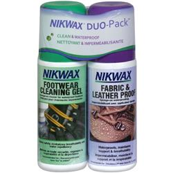 Nikwax Waterproofing Footwear Duo-Pack 4.2oz / 125ml - Fabric & Leather Proof & Cleaning Gel-Not Applicable