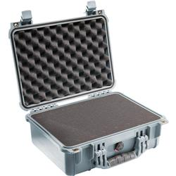 Pelican Products 1450 Medium Case With Foam-Silver