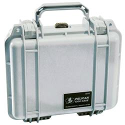 Pelican Products 1200 Case with Foam - Silver (1200 WL / WF)-Not Applicable