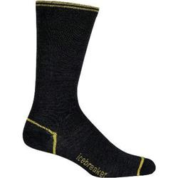 Icebreaker LIfeStyle Ultralite Crew Socks - Mens-Jet / Flash / Black
