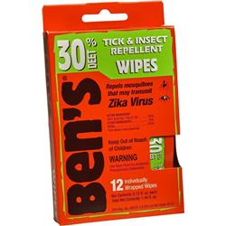 Adventure Medical  Ben`s 30% Wipes-Not Applicable