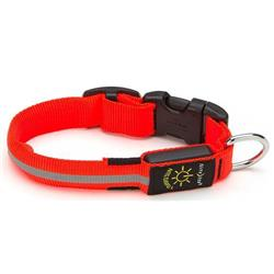 Nite-Ize Nite Dawg LED Dog Collar - Orange - Small-Not Applicable
