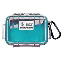 Pelican Products 1010A Micro Case-Aqua Blue / Clear