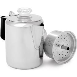 GSI Outdoors Glacier Stainless Percolator with Silicone Handle - 3 Cup-Not Applicable