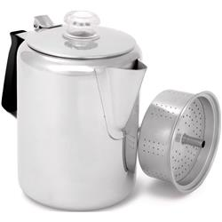 Glacier Stainless Percolator with Silicone Handle - 9 Cup