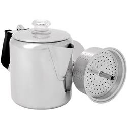 GSI Outdoors Glacier Stainless Percolator with Silicone Handle - 6 Cup-Not Applicable