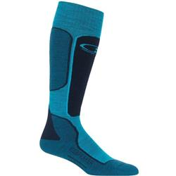 Icebreaker Ski+ OTC Socks - Light Cushion - Womens-Arctic Teal / Midnight Navy / Kingfisher