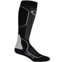 Icebreaker Ski+ OTC Socks - Medium Cushion - Womens-Black / Oil / Silver