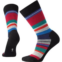 Smartwool Saturnsphere Socks - Womens-Black Multi Stripe
