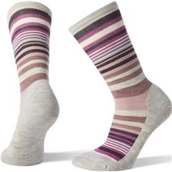 Smartwool Jovian Stripe Socks - Womens-Ash / Meadow Mauve