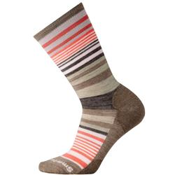 Smartwool Jovian Stripe Socks - Womens-Fossil Heather