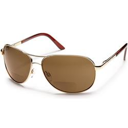 Suncloud Aviator, Gold Frame, Polarized Brown Lens-Not Applicable