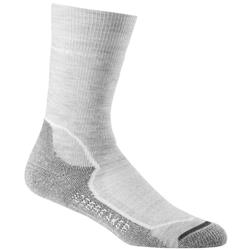 Icebreaker Hike+ Crew Socks - Medium Cushion - Womens-Blizzard Heather / White / Oil