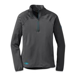 Outdoor Research Radiant LT Zip Top - Womens-Charcoal / Rio