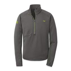 Outdoor Research Radiant Hybrid Pullover - Mens-Charcoal / Lemongrass