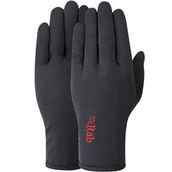 Rab Merino 160 Glove - Mens-Ebony