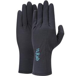 Rab Merino 160 Glove - Womens-Ebony