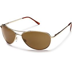 Suncloud Patrol, Gold Frame, Polarized Brown Lens-Not Applicable