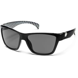 Suncloud Speedtrap, Black Check Backpaint Frame, Gray Polarized Polycarbonate Lens-Not Applicable