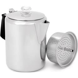 GSI Outdoors Glacier Stainless Percolator with Silicone Handle - 12 Cup-Not Applicable