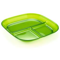 Infinity Divided Plate - Green