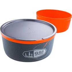 GSI Outdoors Ultralight Nesting Bowl + Mug - Orange-Not Applicable