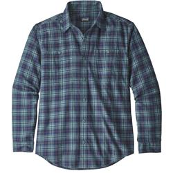 Patagonia Pima Cotton LS Shirt - Mens-Paddler / Shadow Blue