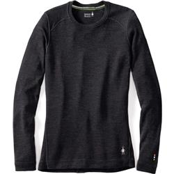 Smartwool Merino 250 Baselayer Crew - Womens-Charcoal Heather
