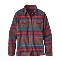 Patagonia Fjord Flannel LS Shirt - Womens-Blanket Stripe / Roots Red