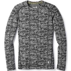 Smartwool Merino 250 Baselayer Pattern Crew - Womens-Black / Moonbeam Heather