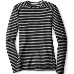 Smartwool Merino 250 Baselayer Pattern Crew - Womens-Charcoal Heather / Black