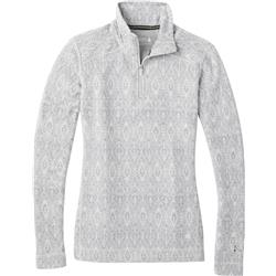 Smartwool Merino 250 Baselayer Pattern 1/4 Zip - Womens-Ash Medallion