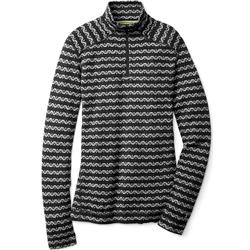 Smartwool Merino 250 Baselayer Pattern 1/4 Zip - Womens-Black / Charcoal