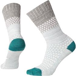 Smartwool Popcorn Cable Socks - Womens-Light Gray