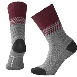 Smartwool Popcorn Cable Socks - Womens-Tibetan Red Heather