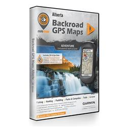 Backroad Mapbooks Alberta GPS Maps (SD)-Not Applicable